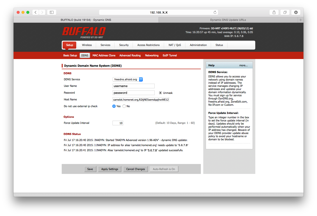 Send IP changes to DNS automatically with your router